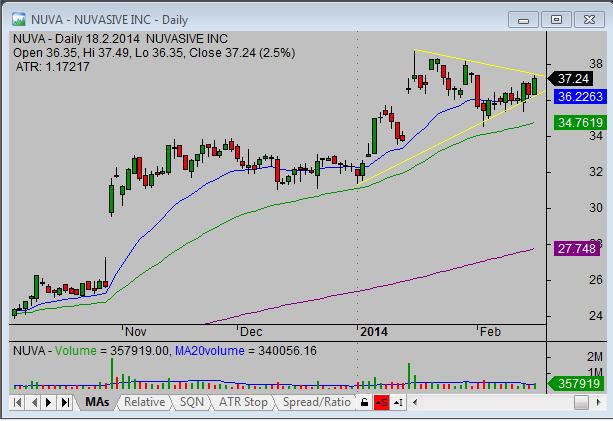 20140219_NUVA_swing_stock_trade_setup